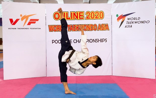 Martial artist wins bronze at virtual 2020 Taekwondo Asia champs hinh anh 1