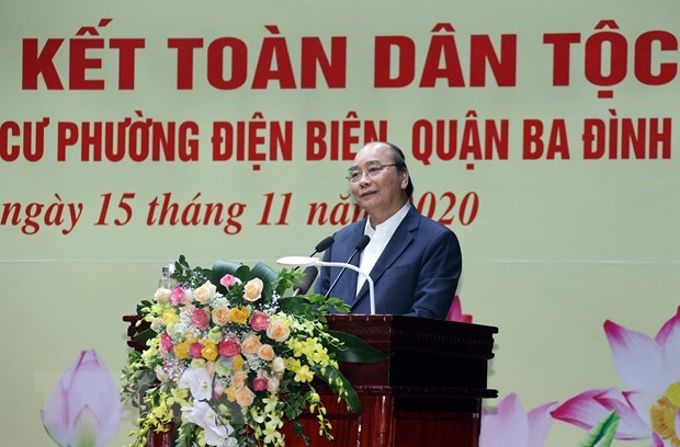 PM attends great national solidarity festival in Hanoi hinh anh 1