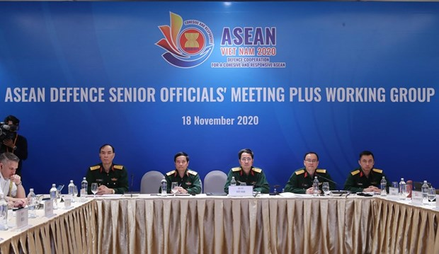 ASEAN Defence Senior Officials' Meeting Plus Working Group held online hinh anh 1
