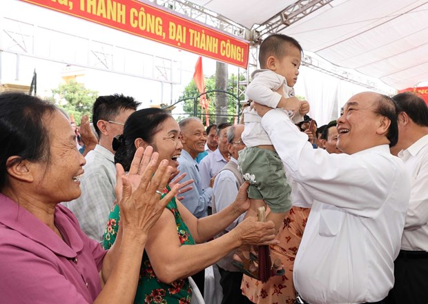 PM joins Hai Duong people in great national solidarity festival hinh anh 1