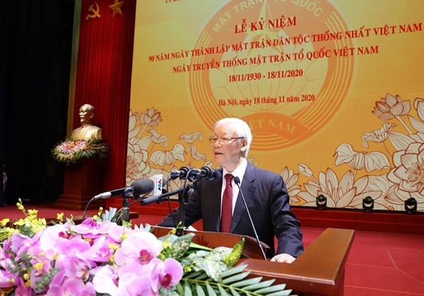 Solidarity creates power for Vietnamese nation: Top leader hinh anh 1