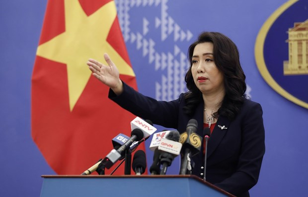Spokeswoman: Countries call for sustainable peace in East Sea hinh anh 1
