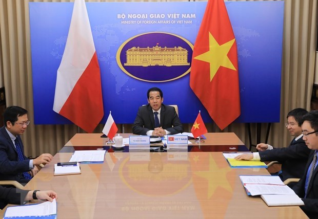 Vietnam, Poland hold online deputy ministerial-level political consultation hinh anh 1