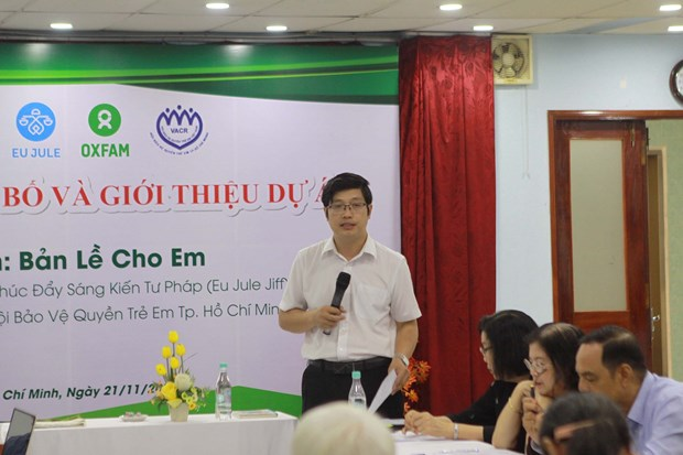 Project launched in HCM City to support disadvantaged children hinh anh 1