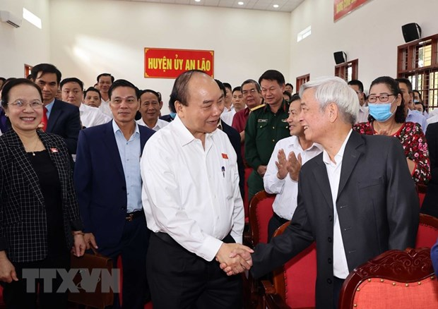 Prime Minister meets voters in Hai Phong hinh anh 1