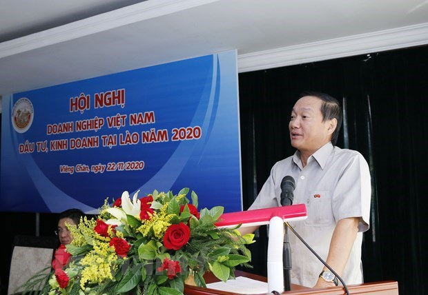 Vietnamese firms in Laos gather to propose measures against difficulties hinh anh 1