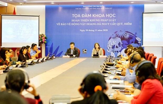 Dialogue discusses strengthening wildlife legislation in Vietnam hinh anh 1