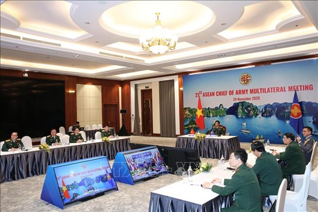 Vietnam attends virtual ASEAN Chief of Army Multilateral Meeting hinh anh 1