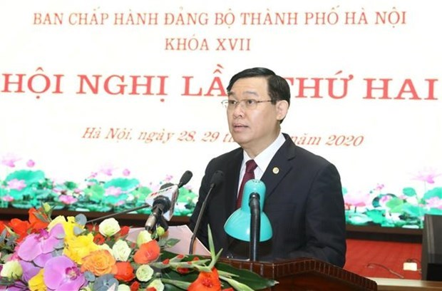 Hanoi Party Committee convenes 2nd meeting hinh anh 1