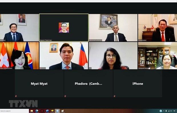 Vietnamese embassy chairs meeting of ASEAN Committee in Bern hinh anh 1