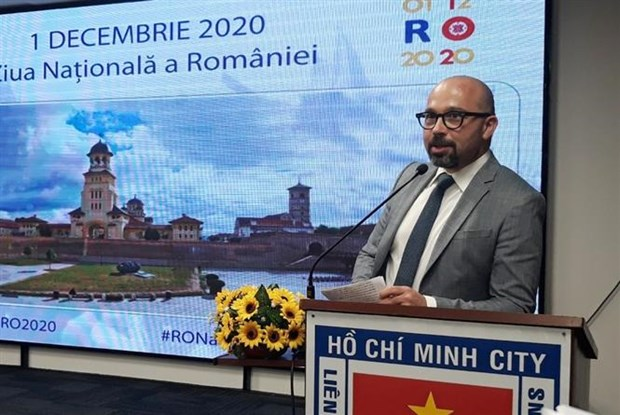 Romania's National Day celebrated in HCM City hinh anh 1