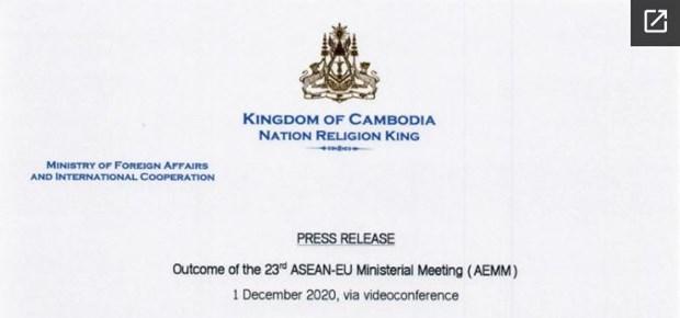 Cambodia reviews outcome of 23rd ASEAN-EU Ministerial Meeting hinh anh 1
