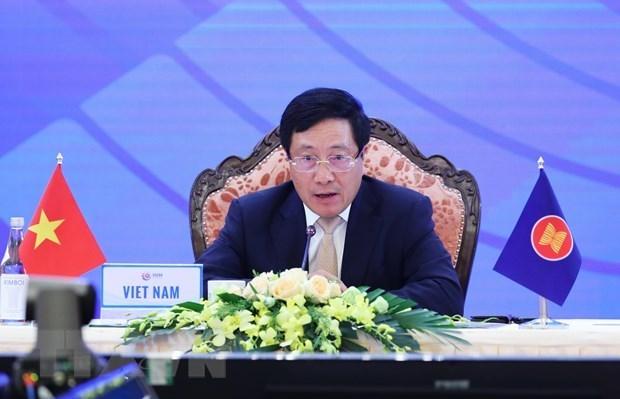 Deputy PM: Vietnam supports upgrade of ASEAN-EU ties to strategic partnership hinh anh 1