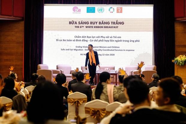 White Ribbon Breakfast highlights safe migration for women, children hinh anh 1