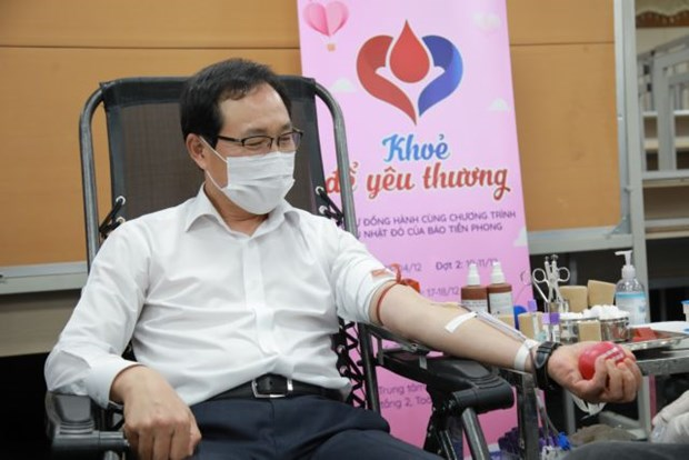 Nearly 10,000 units of blood donated in Samsung drive hinh anh 1