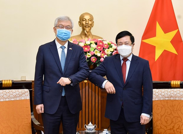 Deputy PM Pham Binh Minh welcomes Vice Foreign Minister of RoK hinh anh 1