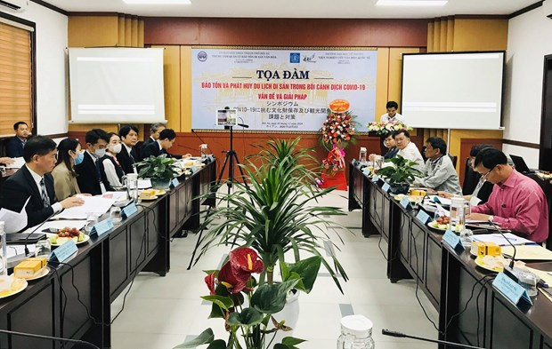 Symposium seeks ways to conserve, develop heritage tourism amid COVID-19 hinh anh 1