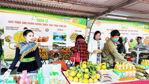 Yen Bai's agricultural and aquatic products introduced in Hanoi hinh anh 1