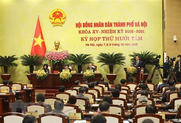 Hanoi People's Council opens 18th session hinh anh 1
