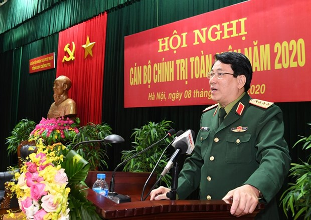 Army reviews Party, political work in 2020 hinh anh 1