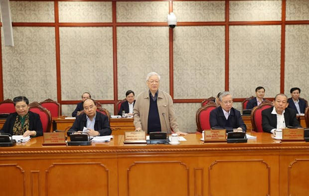 Politburo discusses finalisation of National Party Congress documents hinh anh 1