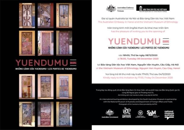 Yuendumu Doors introduces Australia's aboriginal culture to Hanoians hinh anh 1