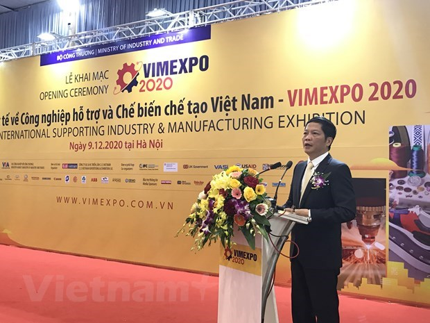 Int'l expo on support industries, processing-manufacturing opens hinh anh 1