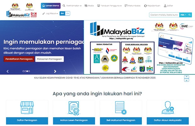 Malaysia launches portal to facilitate online business registrations hinh anh 1