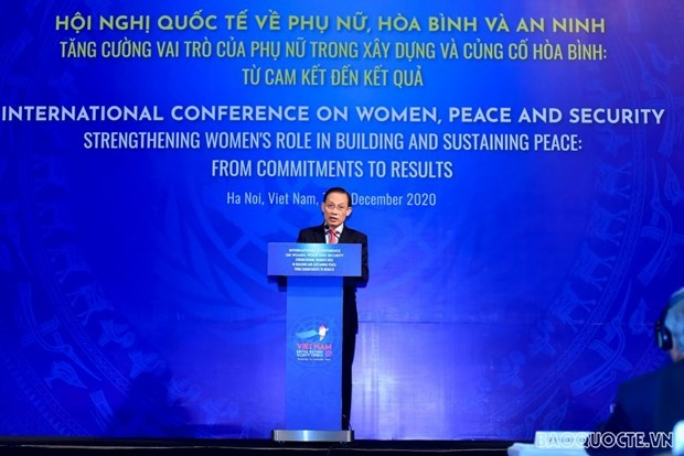 Vietnam promotes women's role in building peace: conference hinh anh 1