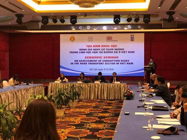 Seminar discusses corruption risks in road transport in Vietnam hinh anh 1