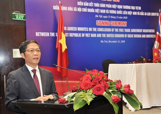 Vietnam, UK issue joint statement concluding free trade negotiations hinh anh 1