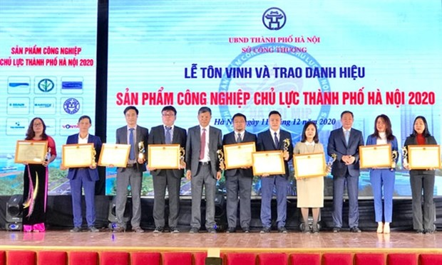 Hanoi honours key industrial products hinh anh 1