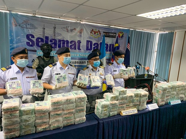 Malaysia seizes over 26 million USD worth of crystal meth hinh anh 1
