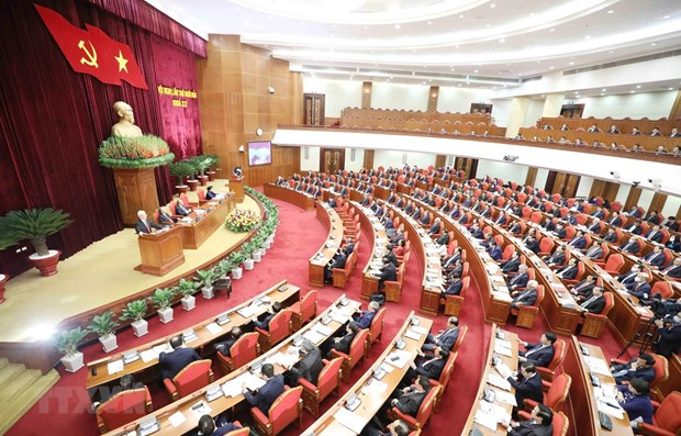 Party Central Committee's 14th session opens hinh anh 1