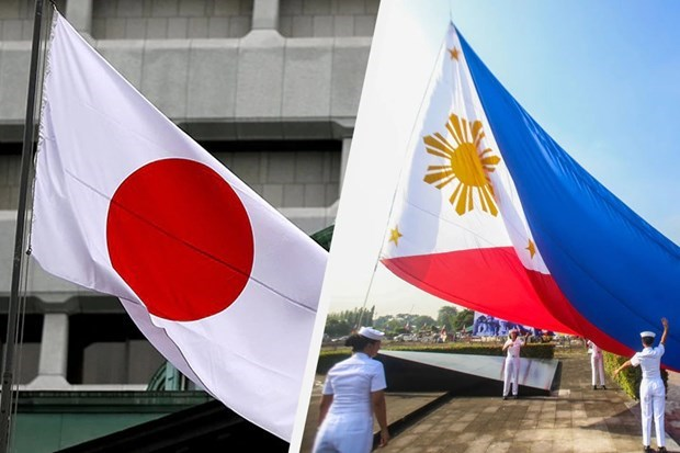 Philippines, Japan pledge close collaboration in East Sea issue hinh anh 1