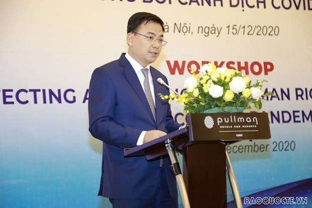 Workshop seeks ways to protect, promote human rights amid COVID-19 hinh anh 1