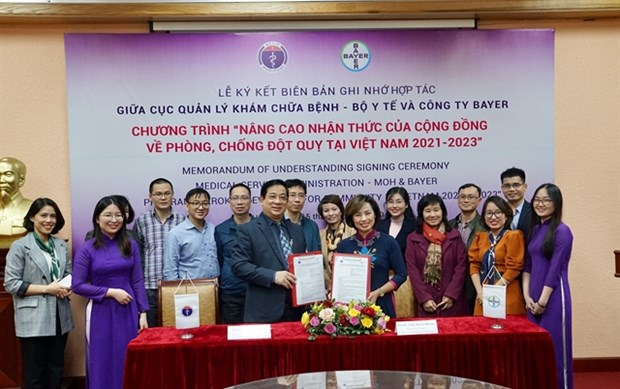 Health Ministry's department, Bayer sign communication programme on stroke prevention hinh anh 1