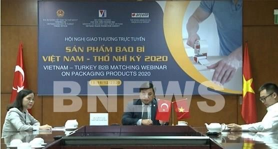 Webinar connects Vietnamese packaging producers to Turkish importers hinh anh 1