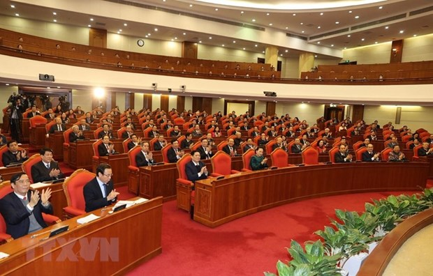 More reports scrutinised at closing session of Party Central Committee's 14th plenum hinh anh 1