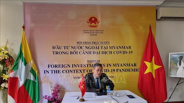 Webinar fosters Vietnam's investment in Myanmar amid COVID-19 hinh anh 1