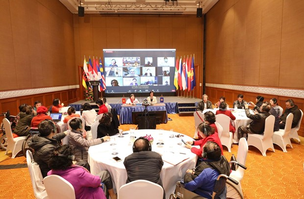 ASEAN forum talks protection of social security for PWDs in face of COVID-19 hinh anh 1