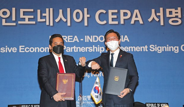 Indonesia, Republic of Korea sign free trade deal hinh anh 1