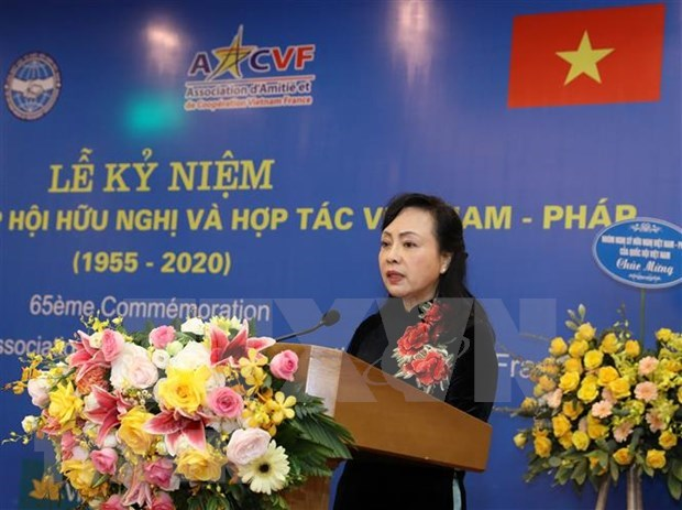 Vietnam-France Friendship Association marks 65th anniversary hinh anh 1