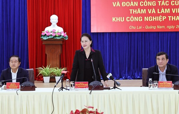 NA Chairwoman hails Quang Nam's efforts amid COVID-19, natural disasters hinh anh 1