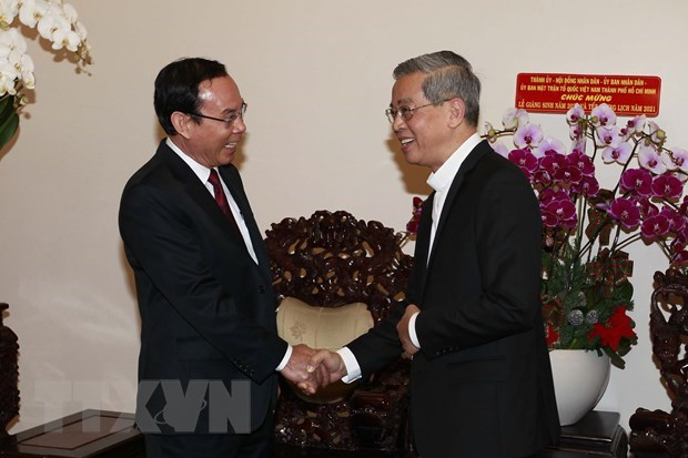 HCM City leader extends Christmas, New Year greetings to city diocese hinh anh 1