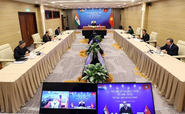 Vietnamese, Indian PMs co-chair virtual summit hinh anh 2