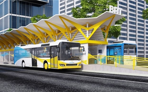 HCM City speeds up work on first bus rapid transit route hinh anh 1
