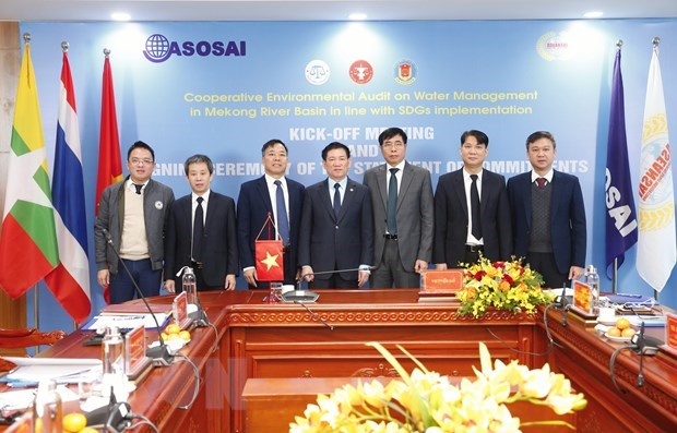 Cooperative audit on water management in Mekong River basin kicks off hinh anh 1