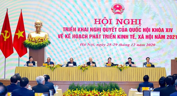 Government holds online conference with localities hinh anh 2