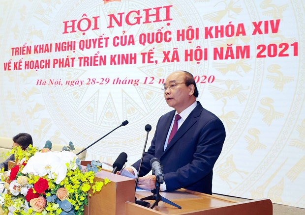 Government holds online conference with localities hinh anh 1